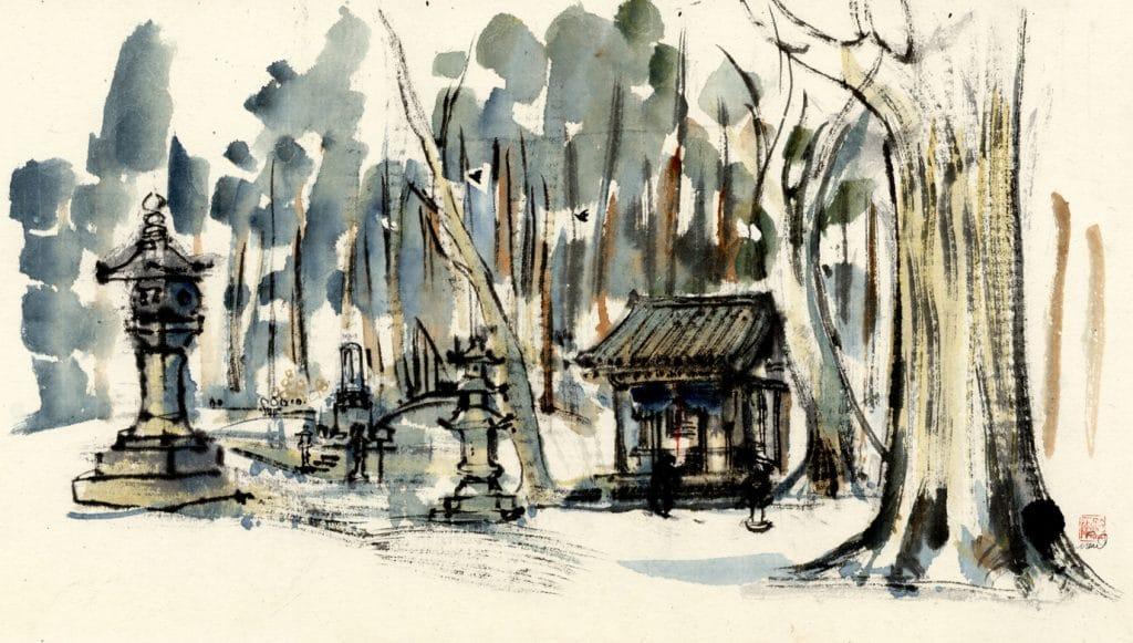Forest Shrine, Kyushu, Japan